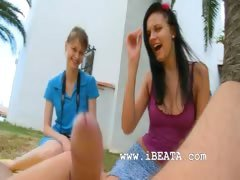 Two girlfriends Beata and...